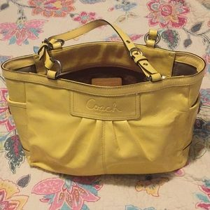 Coach Light Yellow Purse